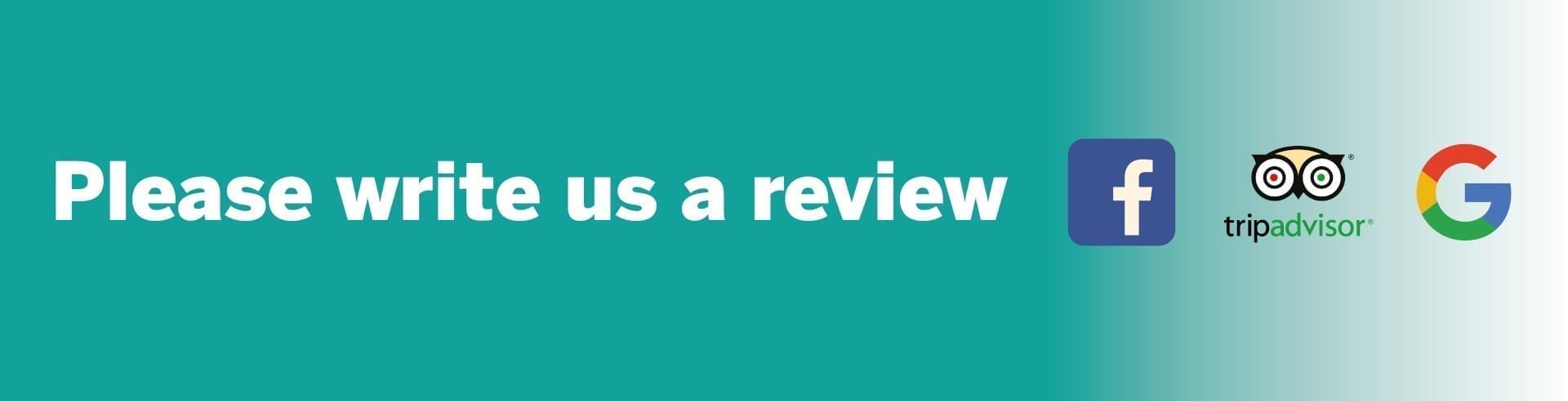 Write us a Review Graphic
